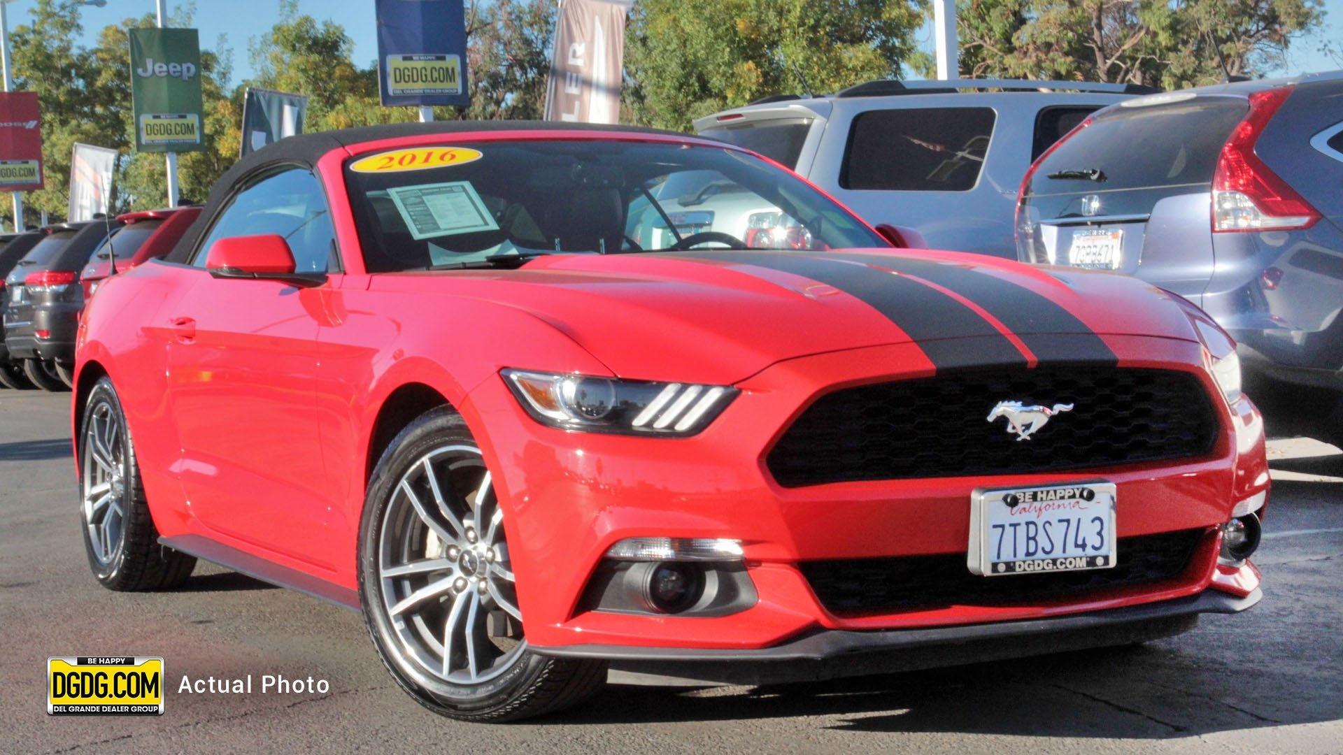 Pre Owned 2016 Ford Mustang EcoBoost Premium 2D Convertible in